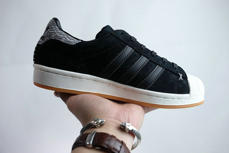 save off 6c920 00b90 Official new adidas Superstar Winter Suede Casual Shoes B27737 BKW Black  White