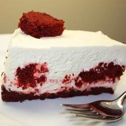 Red Velvet-Center Cheesecake #redvelvetcheesecake