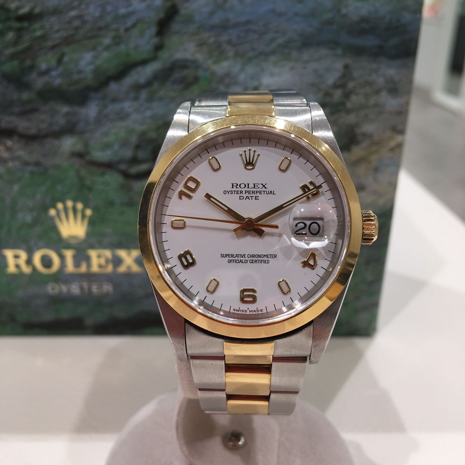 new style 86679 b61f2 ROLEX OYSTER PERPETUAL DATE 15203 ロレックス オイスター ...