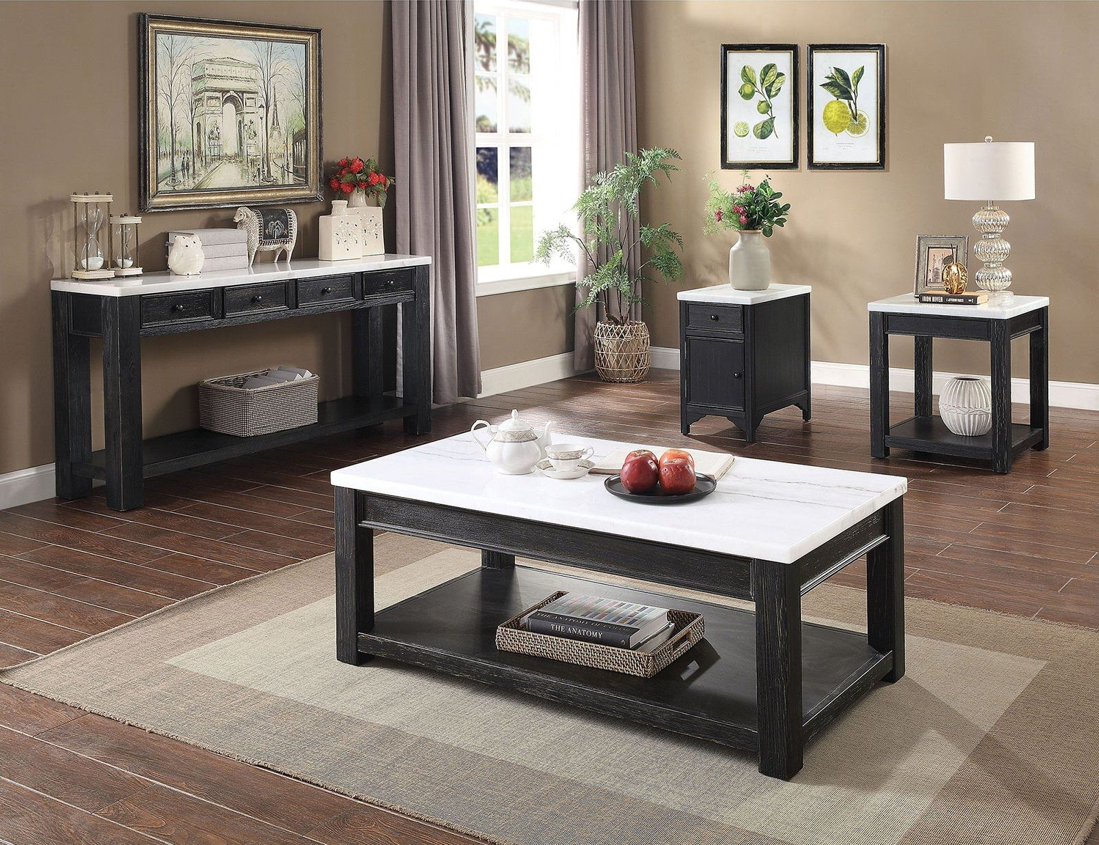 Mcgill Coffee Table Cm4337c Furniture Of America Coffee Tables In 2021 Living Room Table Sets Marble Top Coffee Table Living Room Table [ 1231 x 1600 Pixel ]