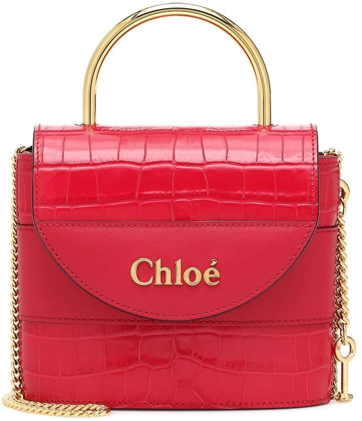 Chlo Aby Lock Small leather shoulder bag