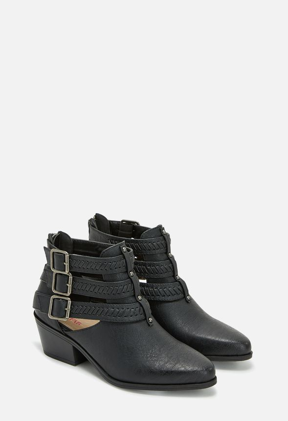 Keep your feet like how you keep your diary—buckled up! Betty provides great ankle coverage with three straps, while still having openings for a little ankle freedom. In faux leather, a faux stacked heel, and buckle detail, Betsy is definitely a shoe you'll want to share with the world! ...