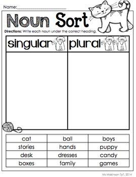 Nouns Nouns Worksheet Singular And Plural Nouns Plurals Singular and plural nouns worksheets