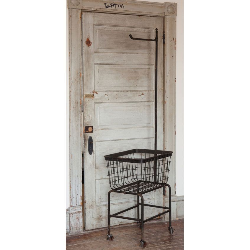 Rolling Metal Laundry Basket I Always Want On Of Those Metal Laundry Basket Vintage Laundry Bathroom Industrial Chic