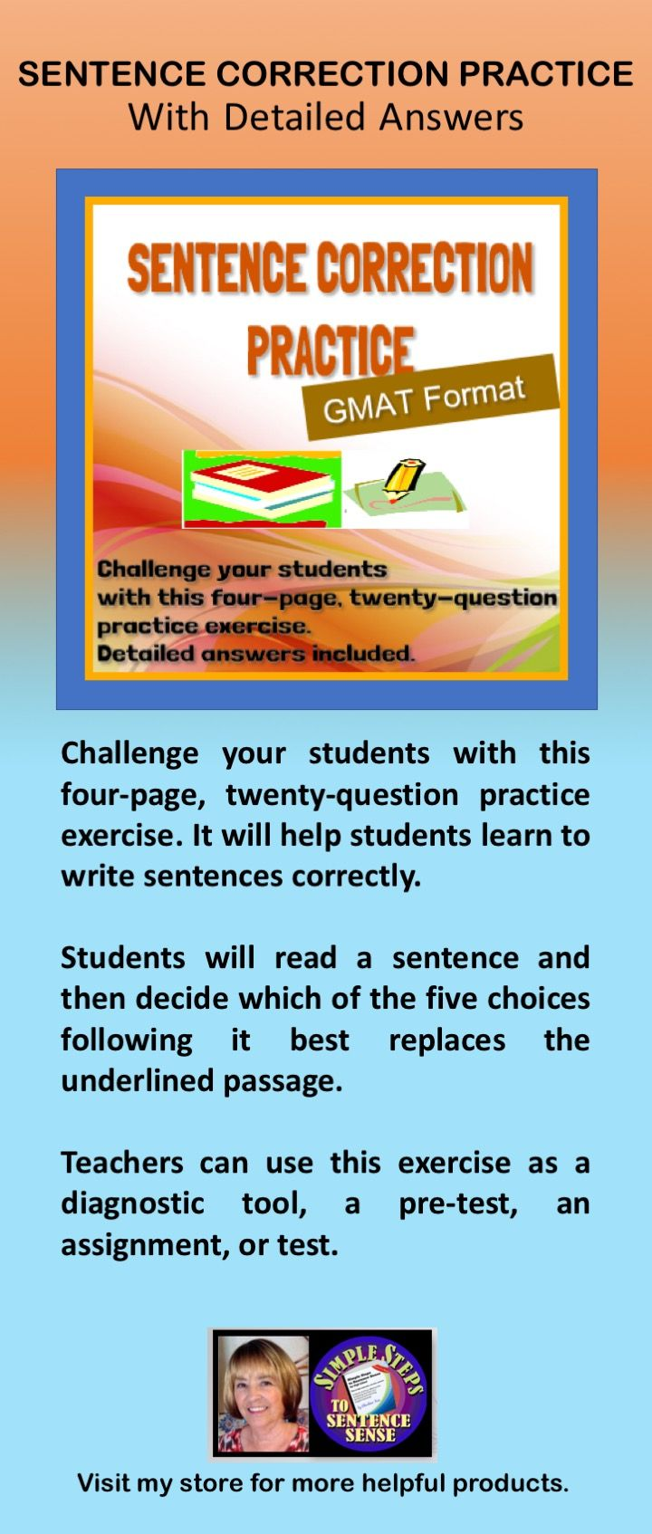 Sentence Correction Practice With Detailed Answers Worksheets Sentence Correction Learning To Write Sentences