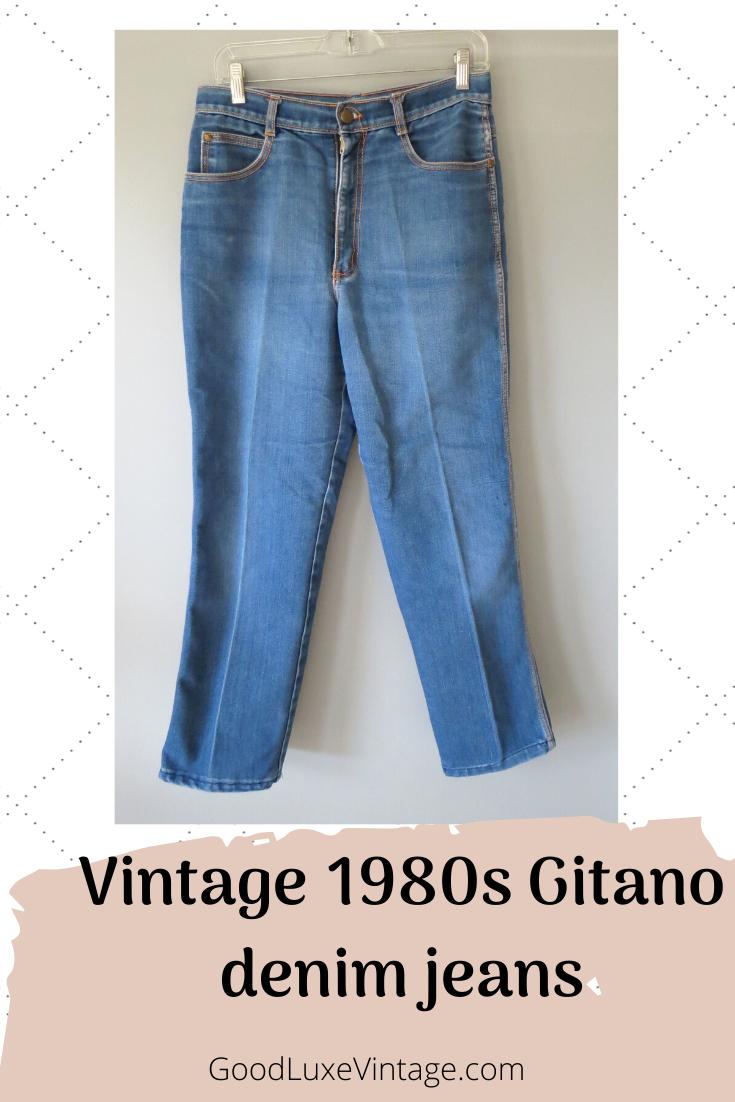 Vintage 70/'s Jeanswaist 26-27 inchesGitano jeans straight leg