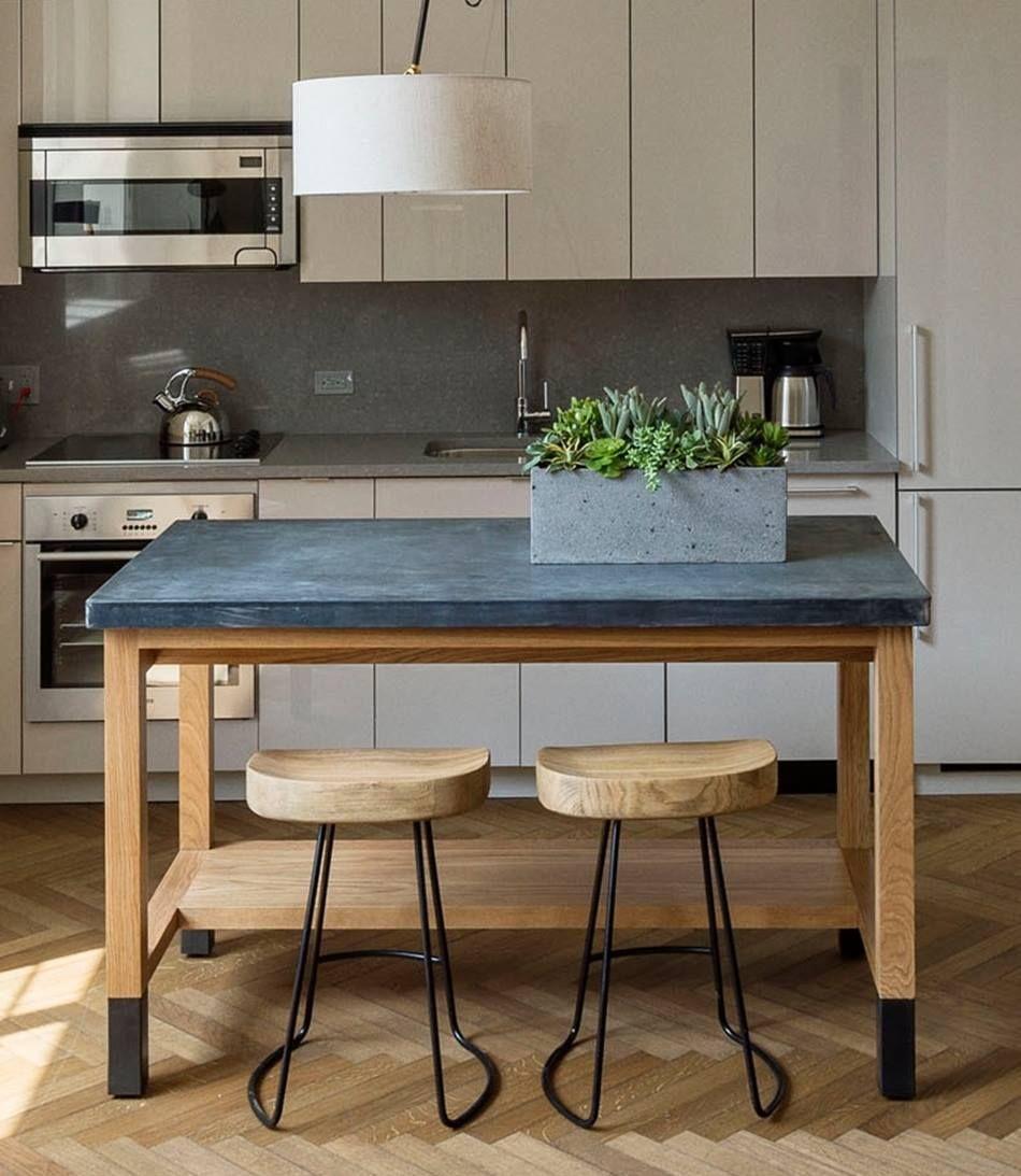 zinc topped island tiny house kitchen furniture zinc table top on kitchen zinc id=96613