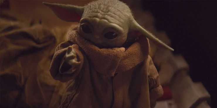The Mandalorian Episode 7 Shows Baby Yoda Eating Meat Which Suggests The Mysterious Star Wars Species Is Car Star Wars Species Star Wars Poster Warcraft Movie