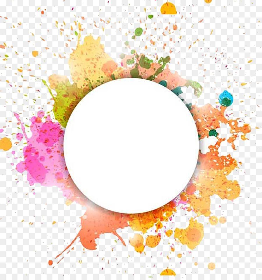 Watercolor Painting Illustration Decorative Circle Desain Banner Seni Abstrak Seni