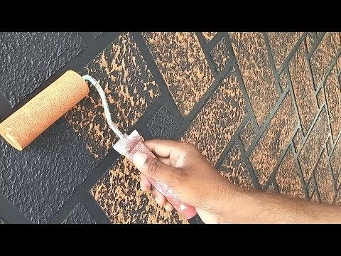 Brick Wall Painting Techniques Asian Paints Interior Brick Wall Youtube Wall Painting Techniques Painted Brick Walls Brick Interior Wall