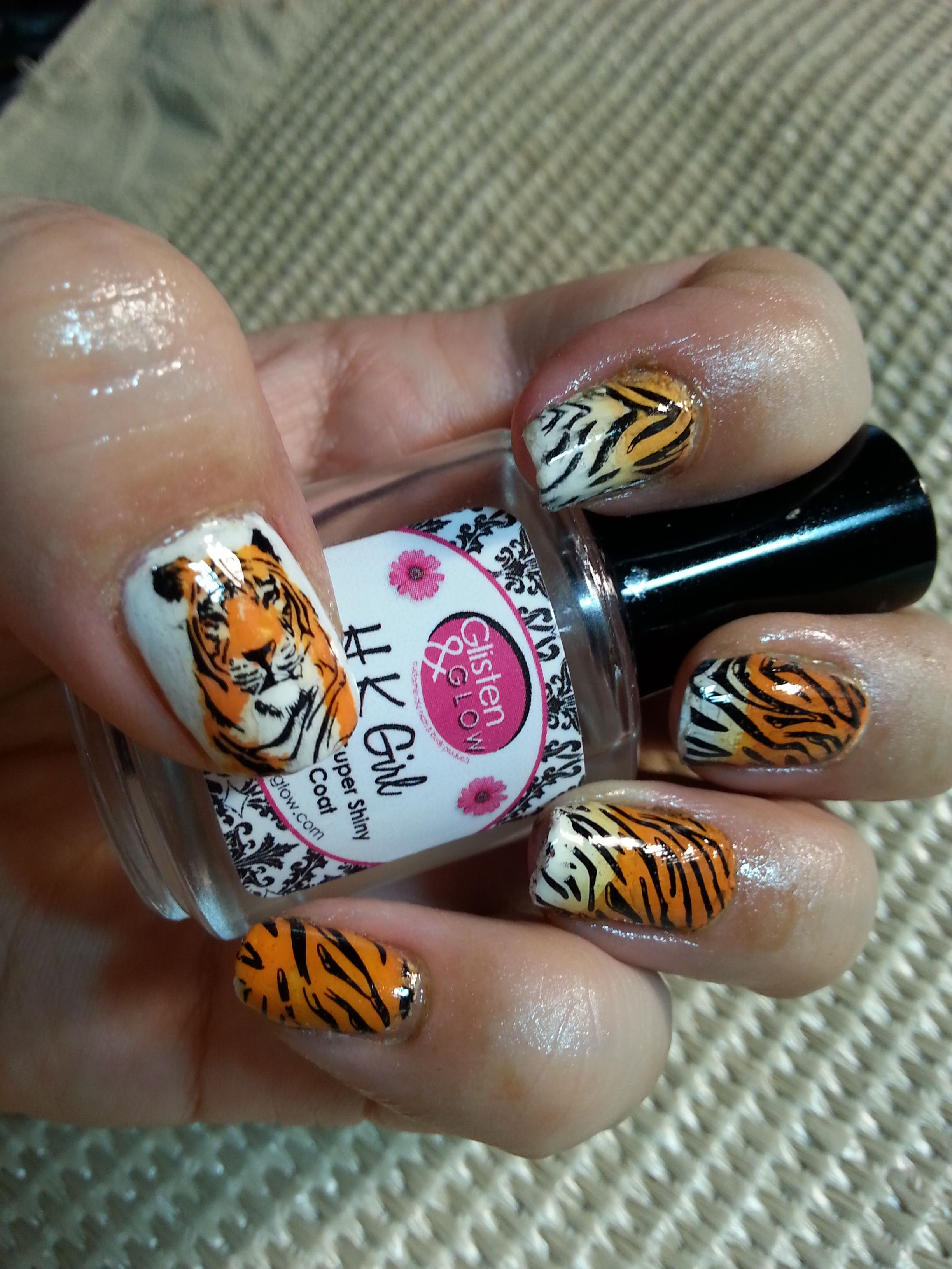 Tiger nails using Infinity Nails by Dashica | AIS (Adventures In ...