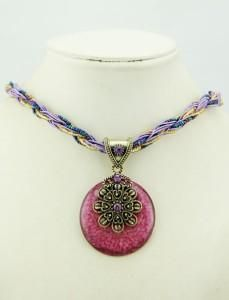 Shades of purple homemade necklace