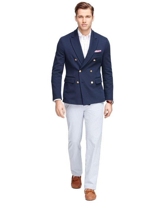 double breasted navy jacket veste bleue marine homme pantalon blanc garde robe pinterest. Black Bedroom Furniture Sets. Home Design Ideas