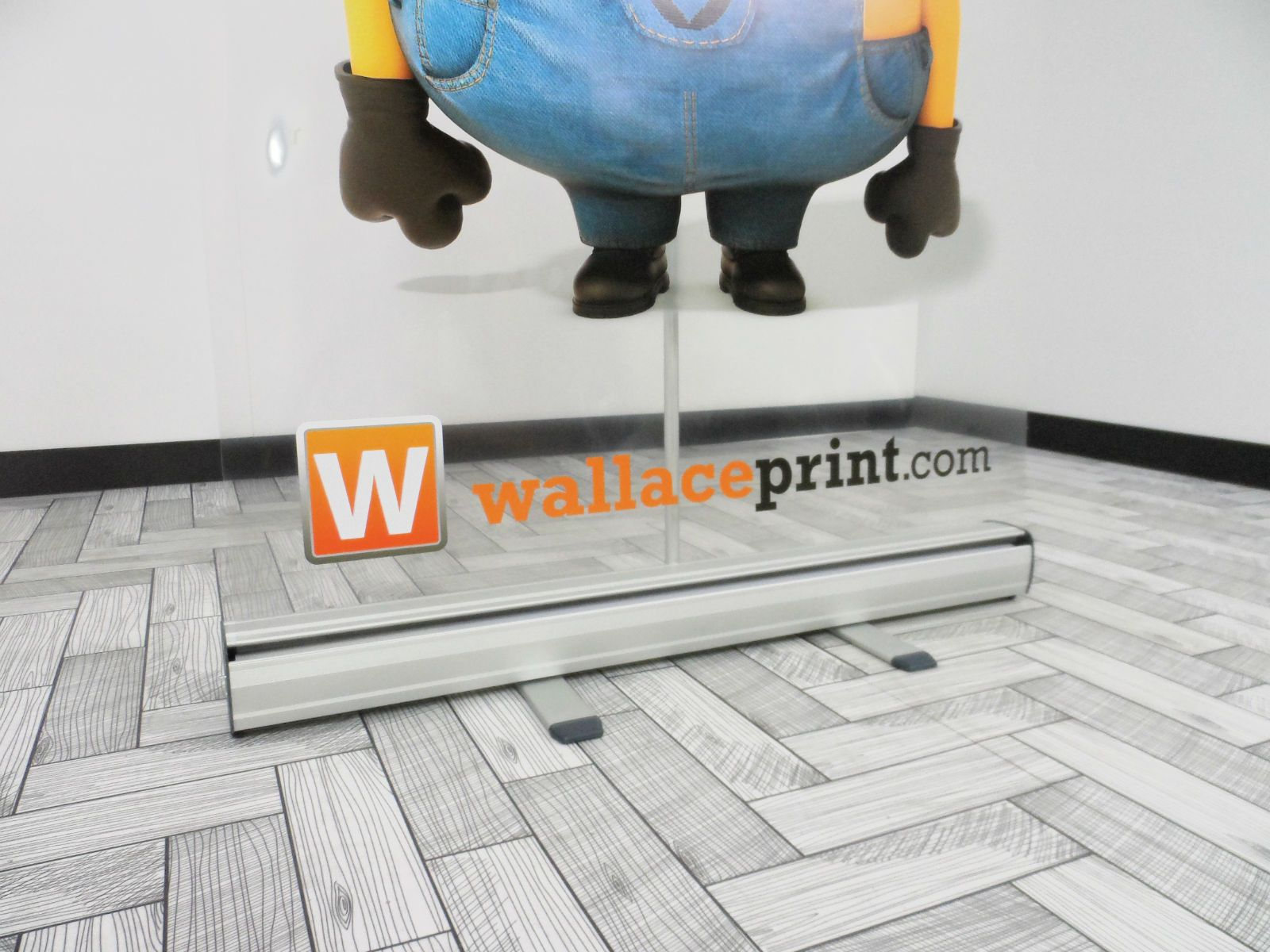 The new clear roller banner display!