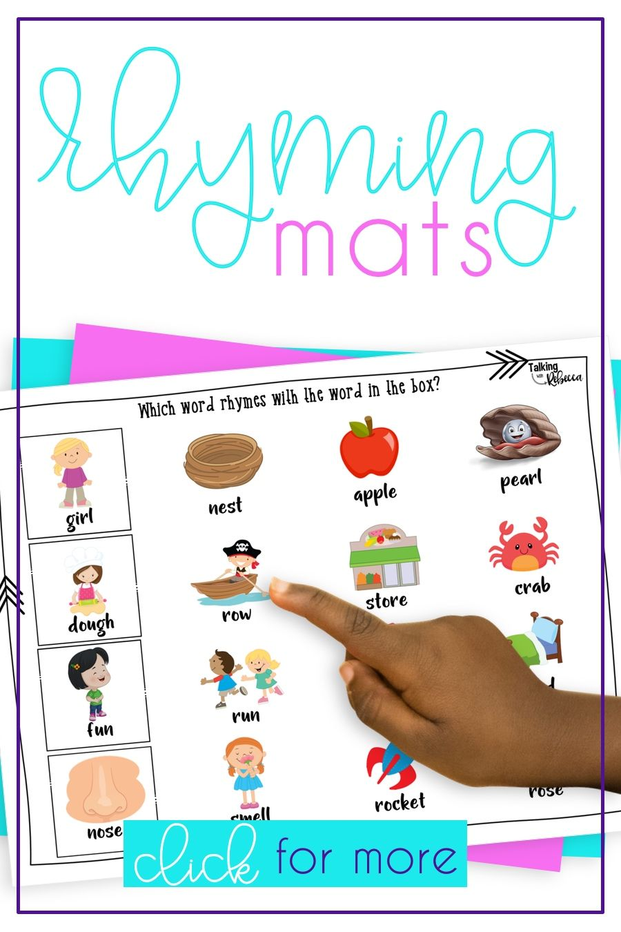 Rhyming Activities For Speech Therapy Rhyming Words Activities Rhyming Activities Word Activities [ 1350 x 900 Pixel ]