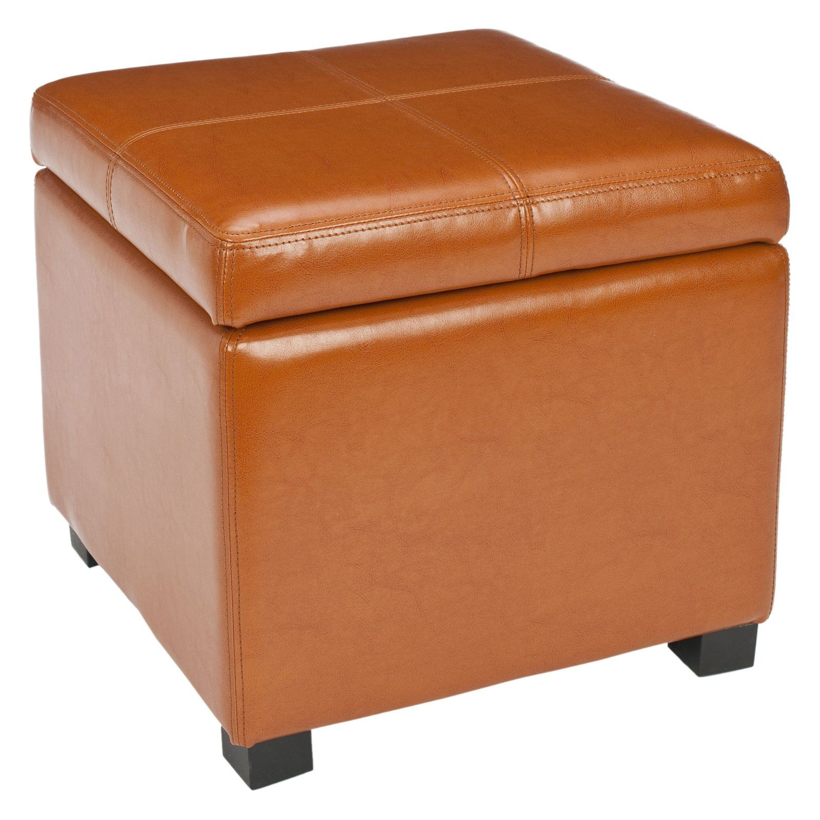 Marvelous Safavieh Madison Square Leather Ottoman Saddle Products In Squirreltailoven Fun Painted Chair Ideas Images Squirreltailovenorg