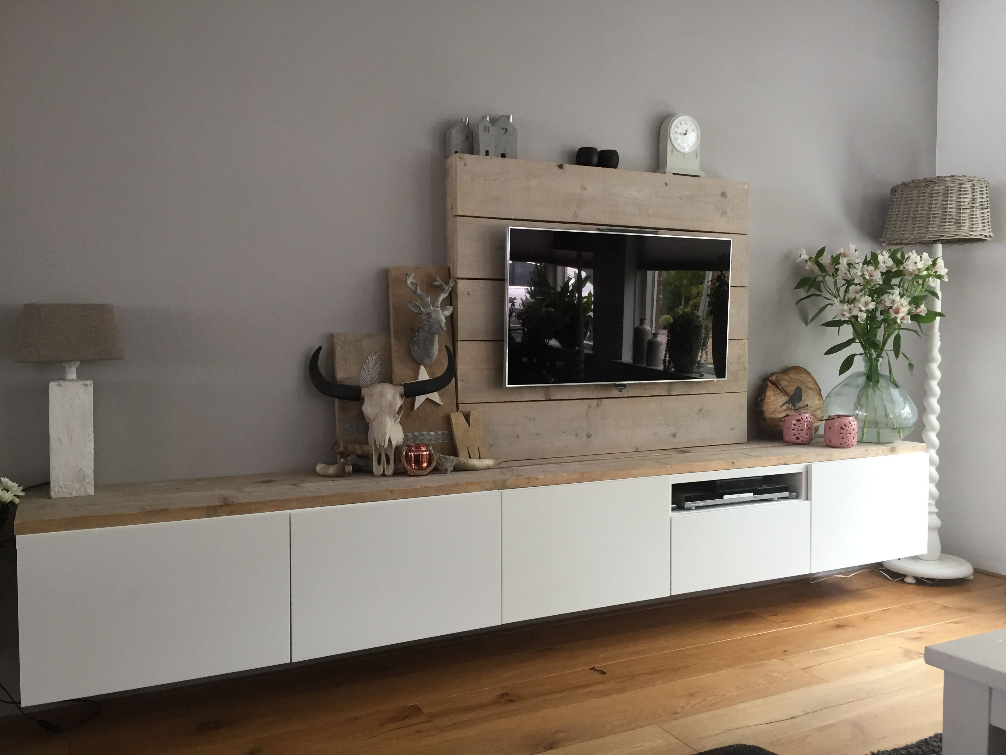 Ikea Besta Opgepimpt Interieur Decoratie Pinterest Living  # Diy Meuble Tv Ikea