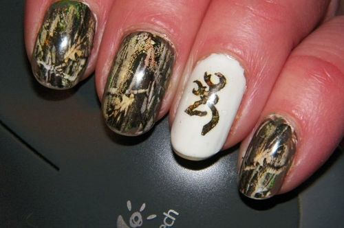 browning camo nail designs - Google Search - 20 Puuuurfect Cat Manicures Cat Nail Art Designs For Lovers