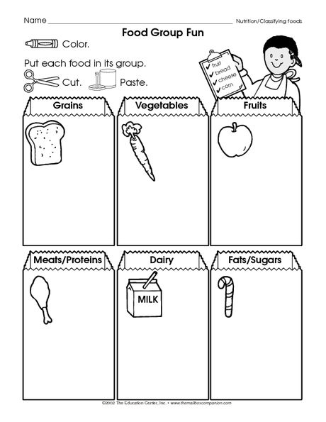 Science Worksheet Food Groups The Mailbox Group Meals Preschool Healthy Eating Food Lessons