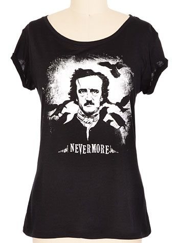 "Poe /""Nevermore/"" T-shirt All Sizes *High Quality*"