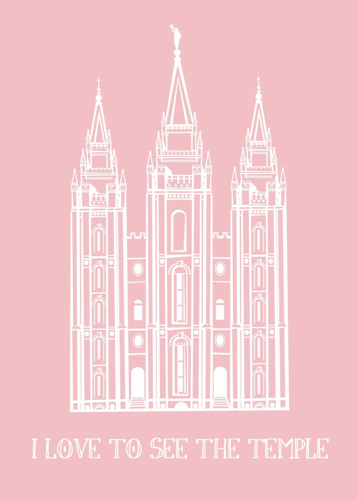 The Caldwells: Free Printable: I Love To See The Temple | Latter Day ...