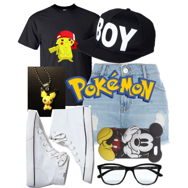 Pokémon by foreverxdirectioner on Polyvore featuring polyvore fashion style Disney River Island Keds BOY London Wet Seal STELLA McCARTNEY