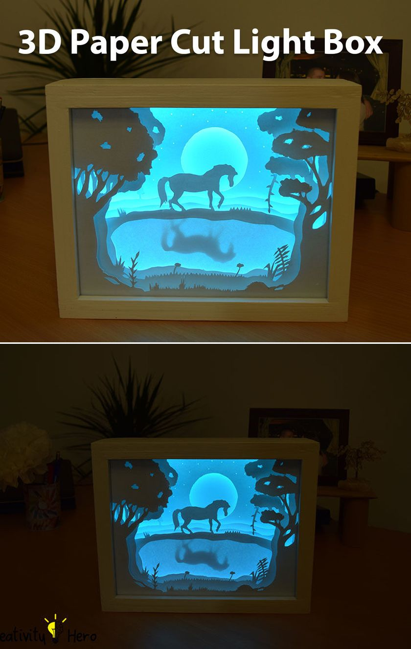 How To Create A 3d Paper Cut Light Box Greeting Cards