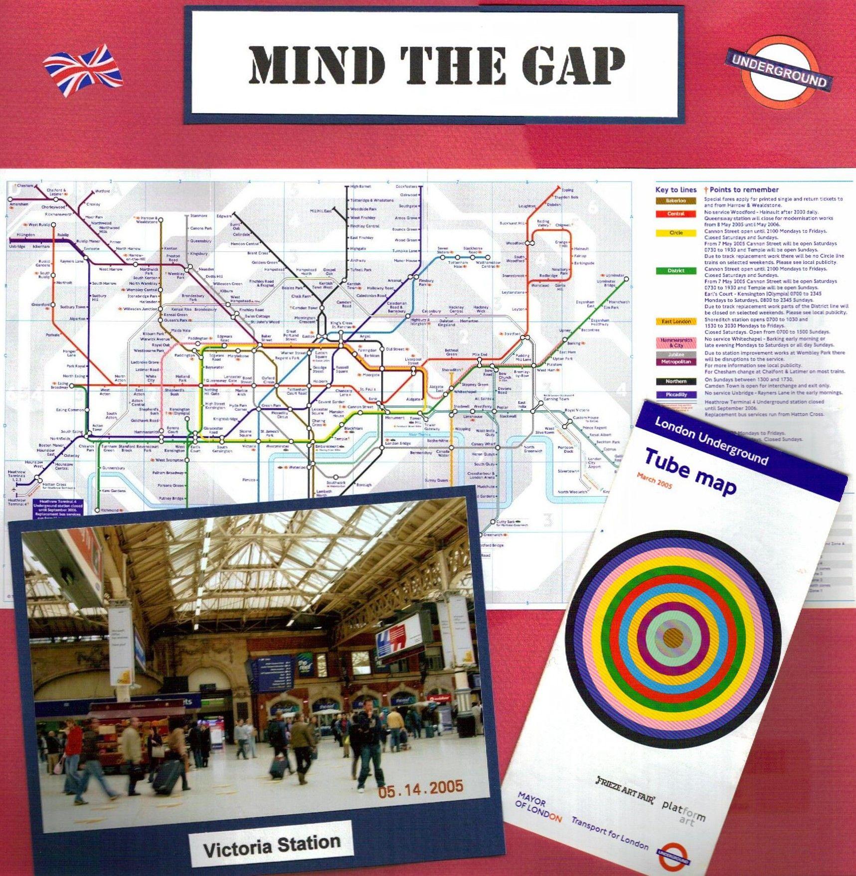 London Underground Scrapbook Page Layout