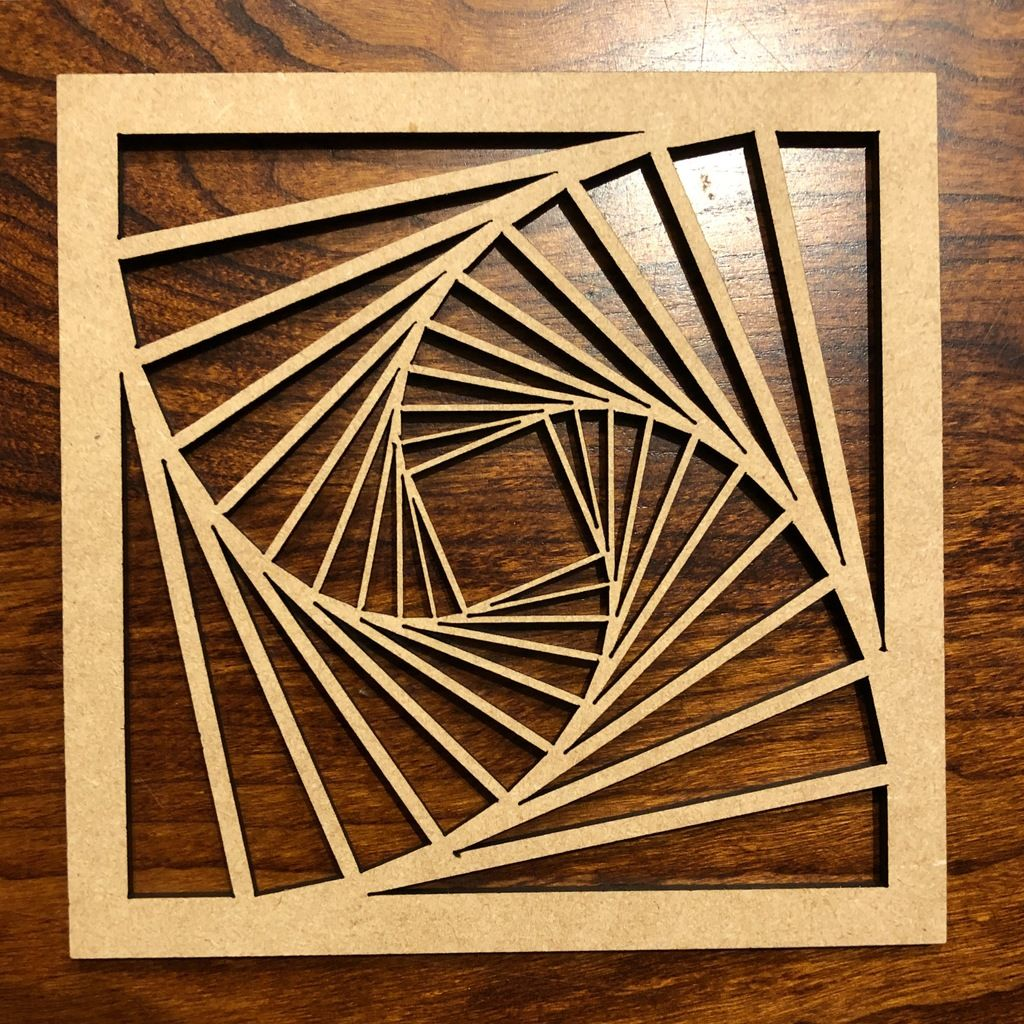 Laser cut tilted square pattern by notwebsafe 組子 pinterest