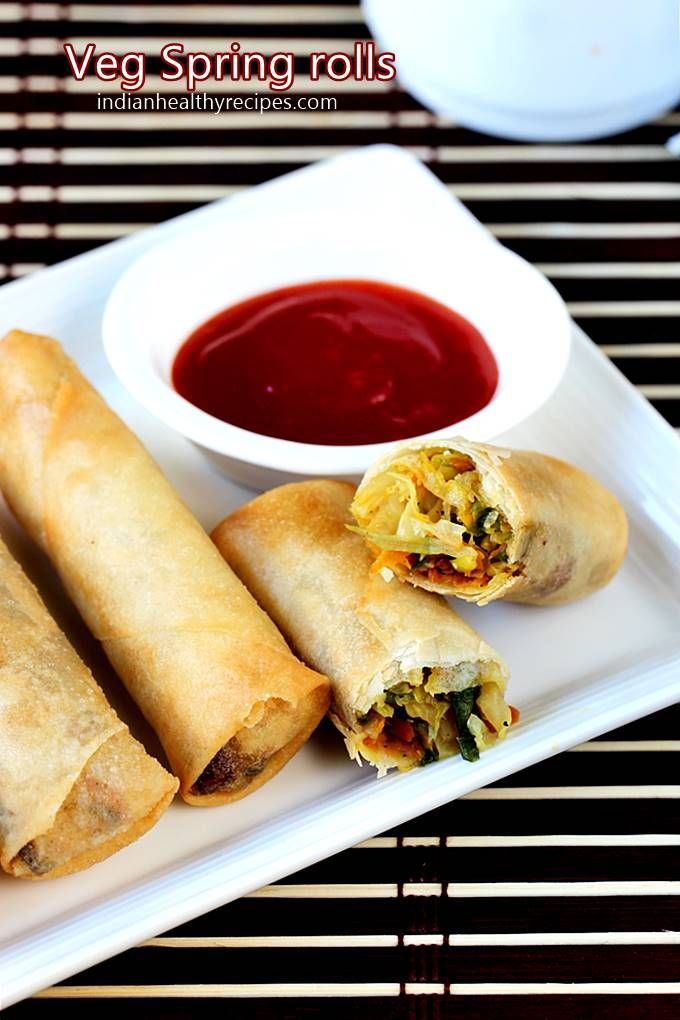 Spring Rolls Recipe How To Make Veg Spring Rolls Recipe Vegetable Spring Rolls Veg Spring Rolls Spring Roll Recipe