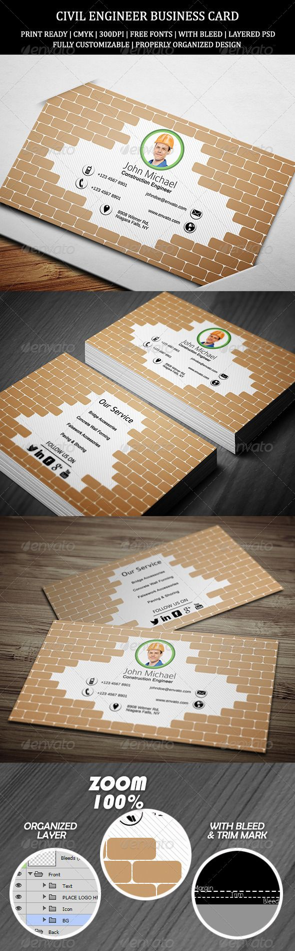 Civil engineer business card 1 print templates business cards civil engineer business card 1 magicingreecefo Image collections
