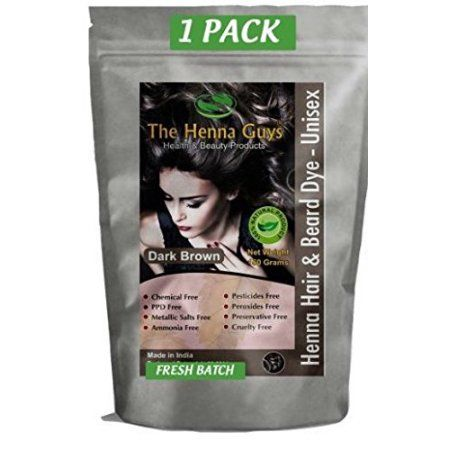 Dark Brown Henna Hair Dye Chemicals Free Hair Color Products