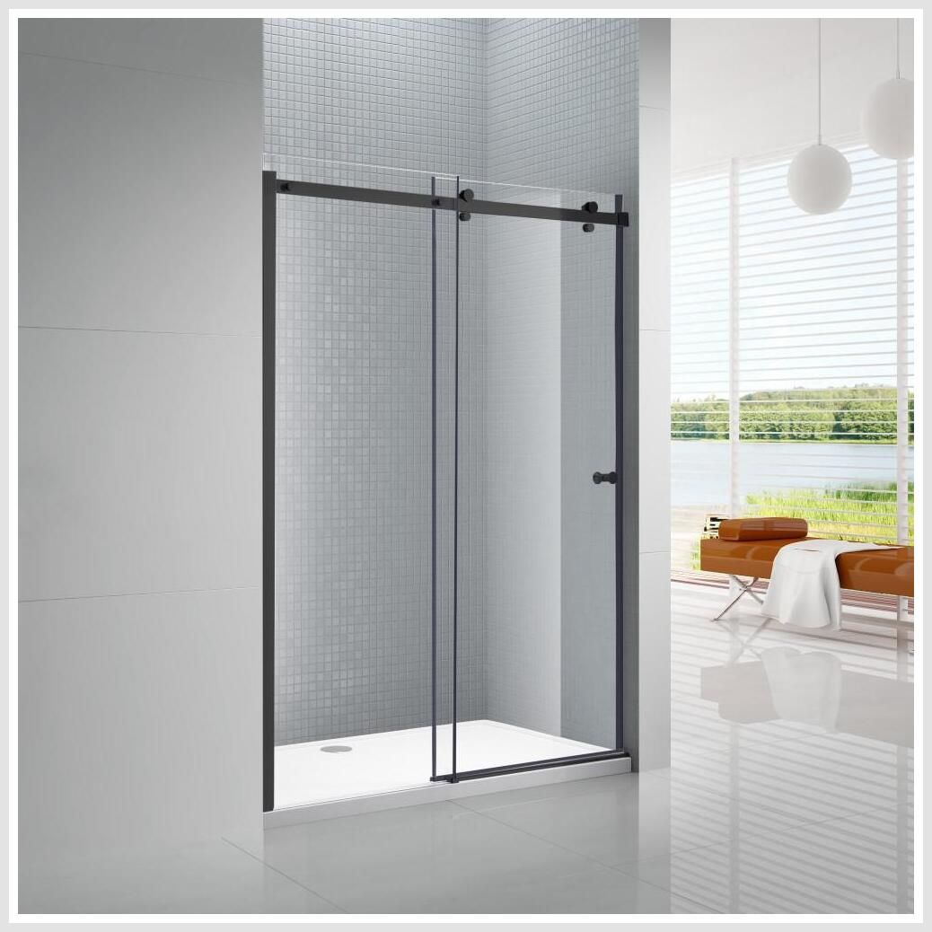 38 Reference Of Glass Door Clear Sliding Patio In 2020 Frameless Sliding Shower Doors Shower Sliding Glass Door Glass Shower Doors