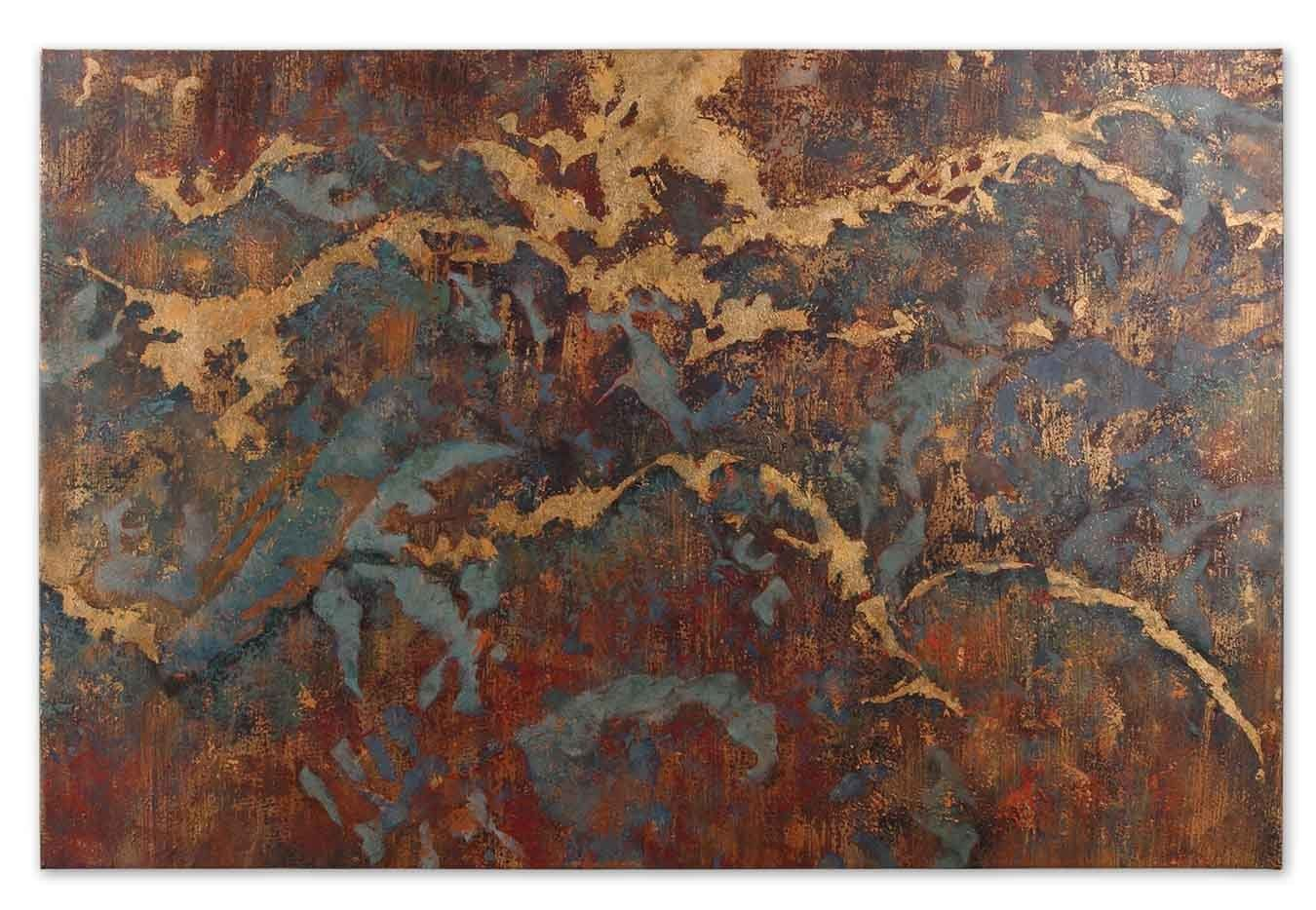 Oil On Canvas Hand Painted Oil On Canvas Stormy Night Depiction Art Piece From The Stormy Night Collection Model-32182. Finish: Wood, Style: Contemporary. Lenght: 1.50in, Width: 40.00in, Height: 60.00in. From Uttermost.