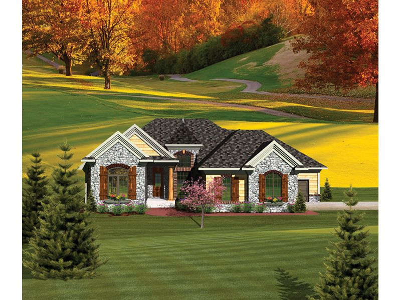 Carton Rustic Ranch Home Country Style House Plans Ranch Style House Plans French Country House Plans