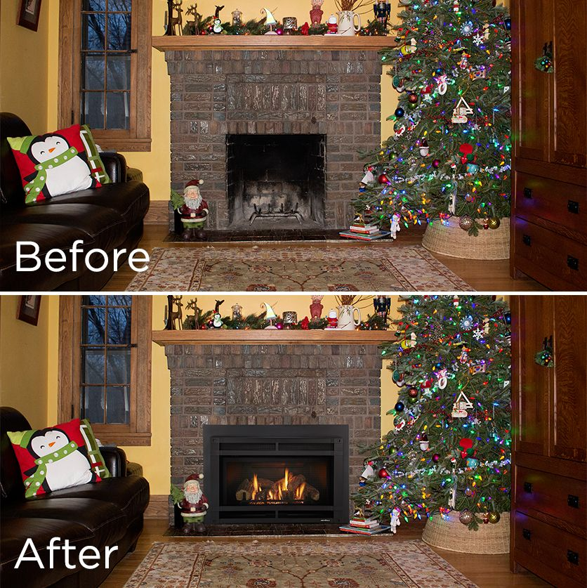 By Placing A Gas Fireplace Insert Into An Existing Masonry Fireplace,  Youu0027ll Not