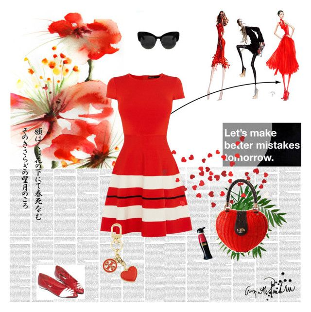 """""""Reddy Red"""" by signa2000 ❤ liked on Polyvore featuring Karen Millen, Tory Burch, Moschino, red and reddress"""