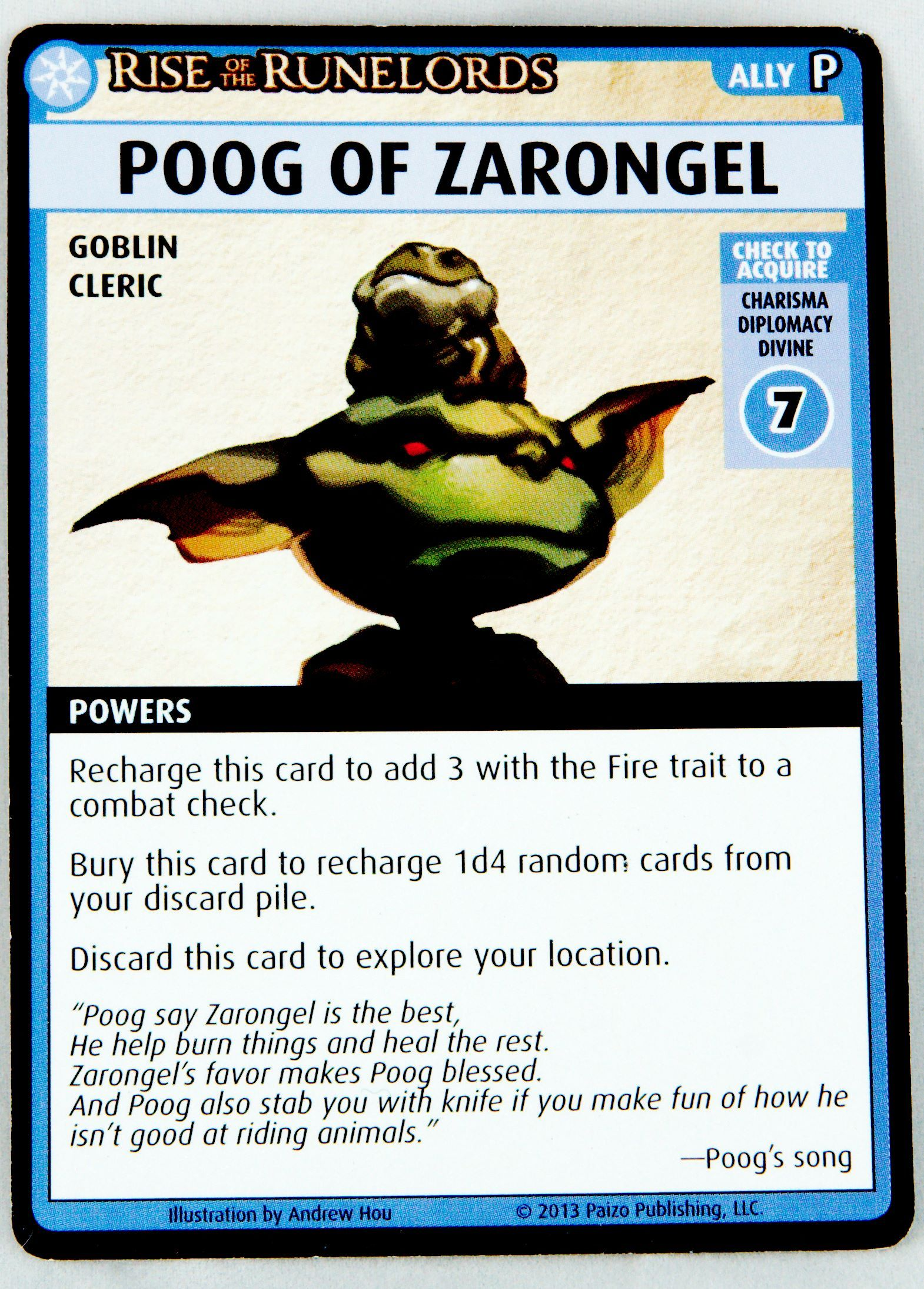 Rise of the Runelord Grindylow Promo Card Pathfinder Adventure Card Game