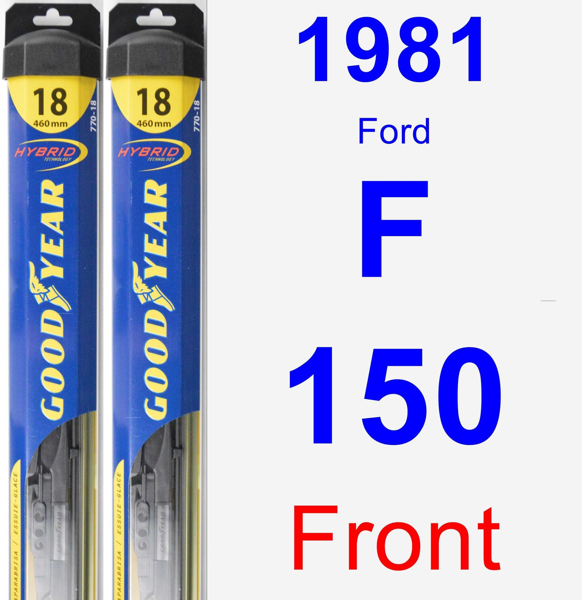 Front Wiper Blade Pack for 1981 Ford F-150 - Hybrid