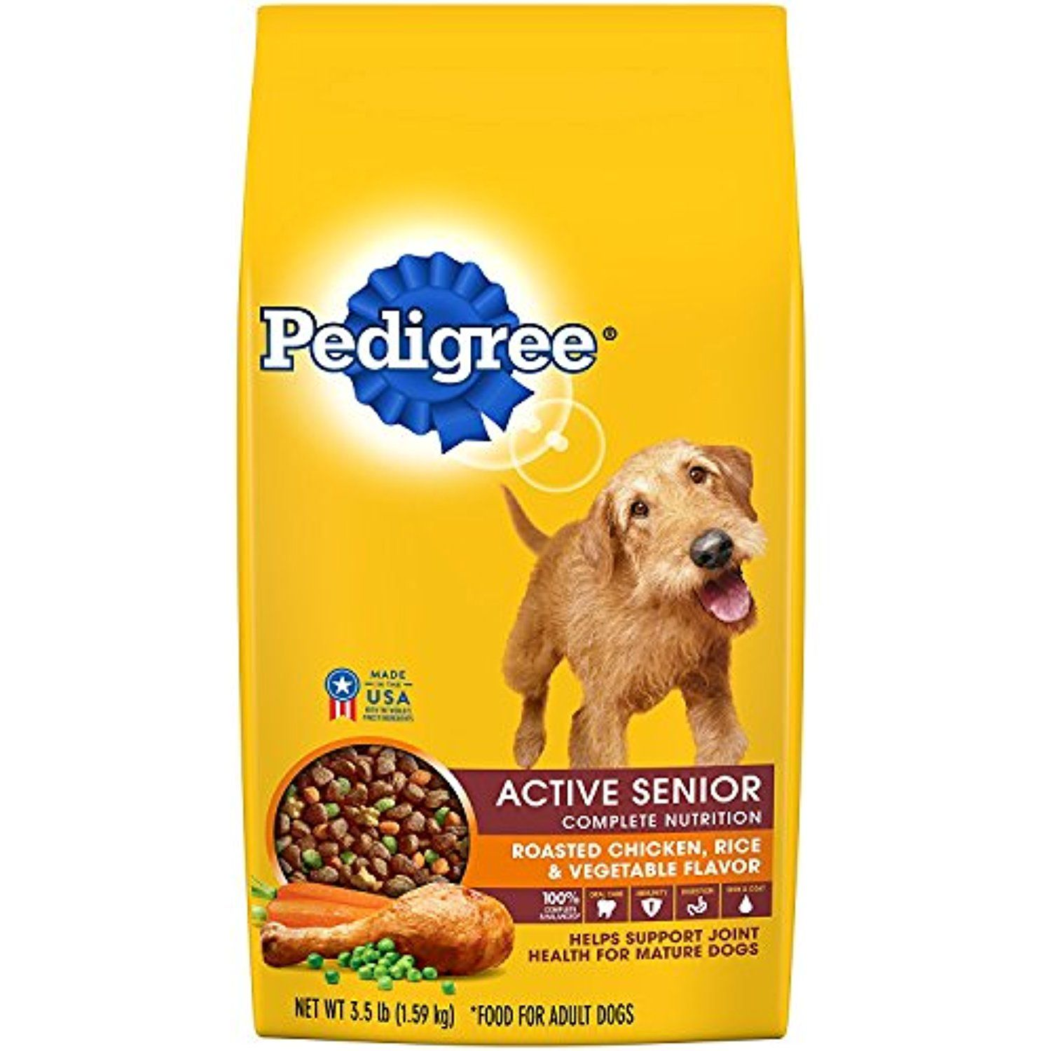 Pedigree Senior Dry Dog Food Chicken 3 5 Lbs Pack 2 Please