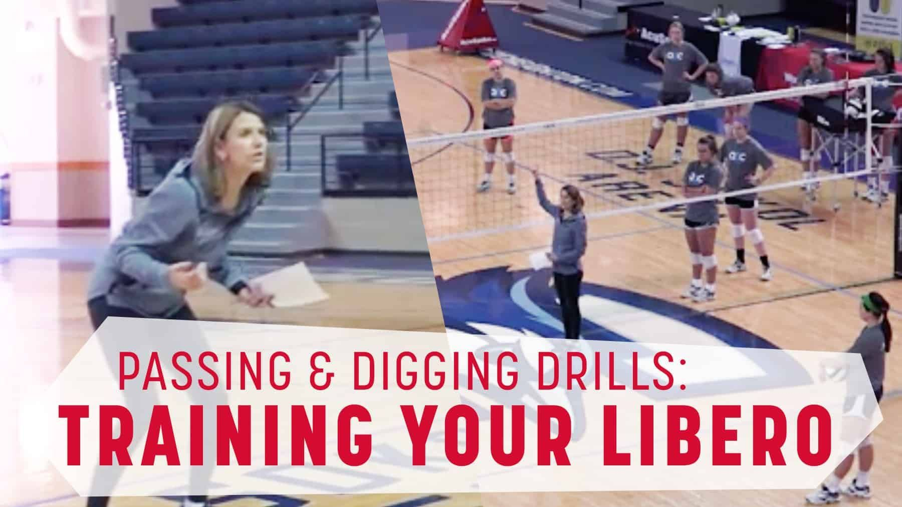 Training Your Libero Passing And Digging Tips Coaching Volleyball Volleyball Training Volleyball Drills