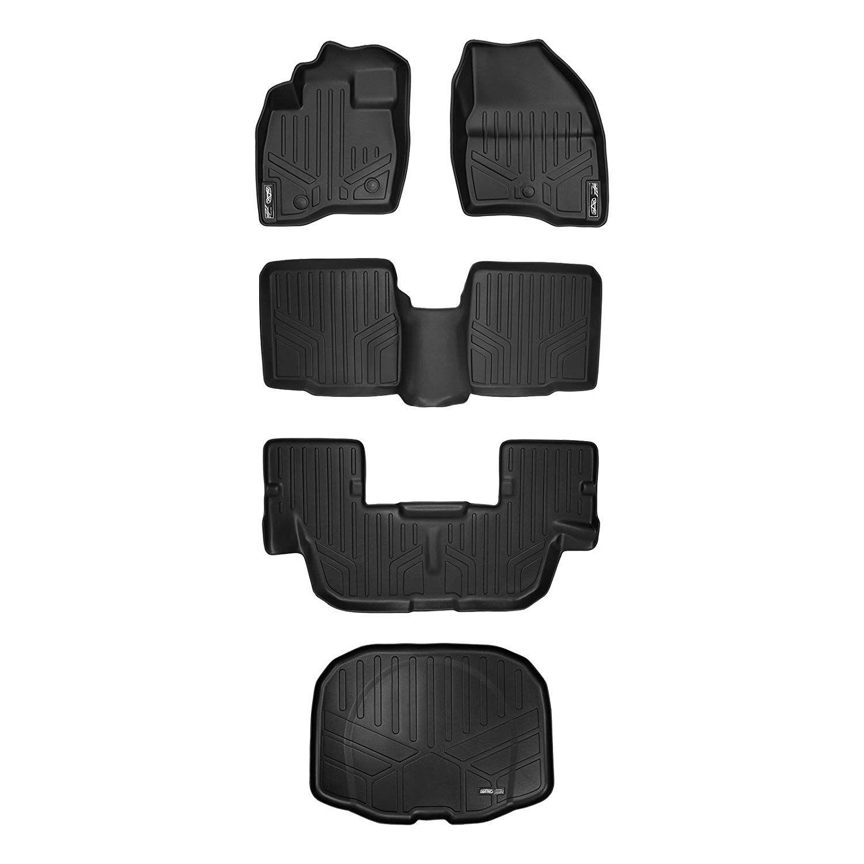 3 Row SMARTLINER All Weather Custom Floor Mats Liner Set for Explorer Black