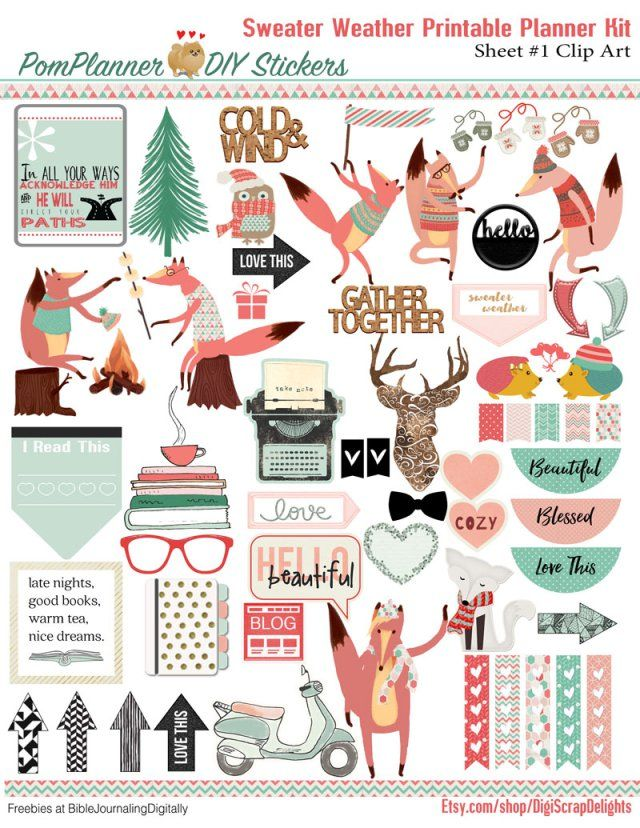 Free Winter Printable Planner Stickers From BIbleJournalingDigitally Erin Condren The Happy Plum Me And My Big Ideas MAMBI
