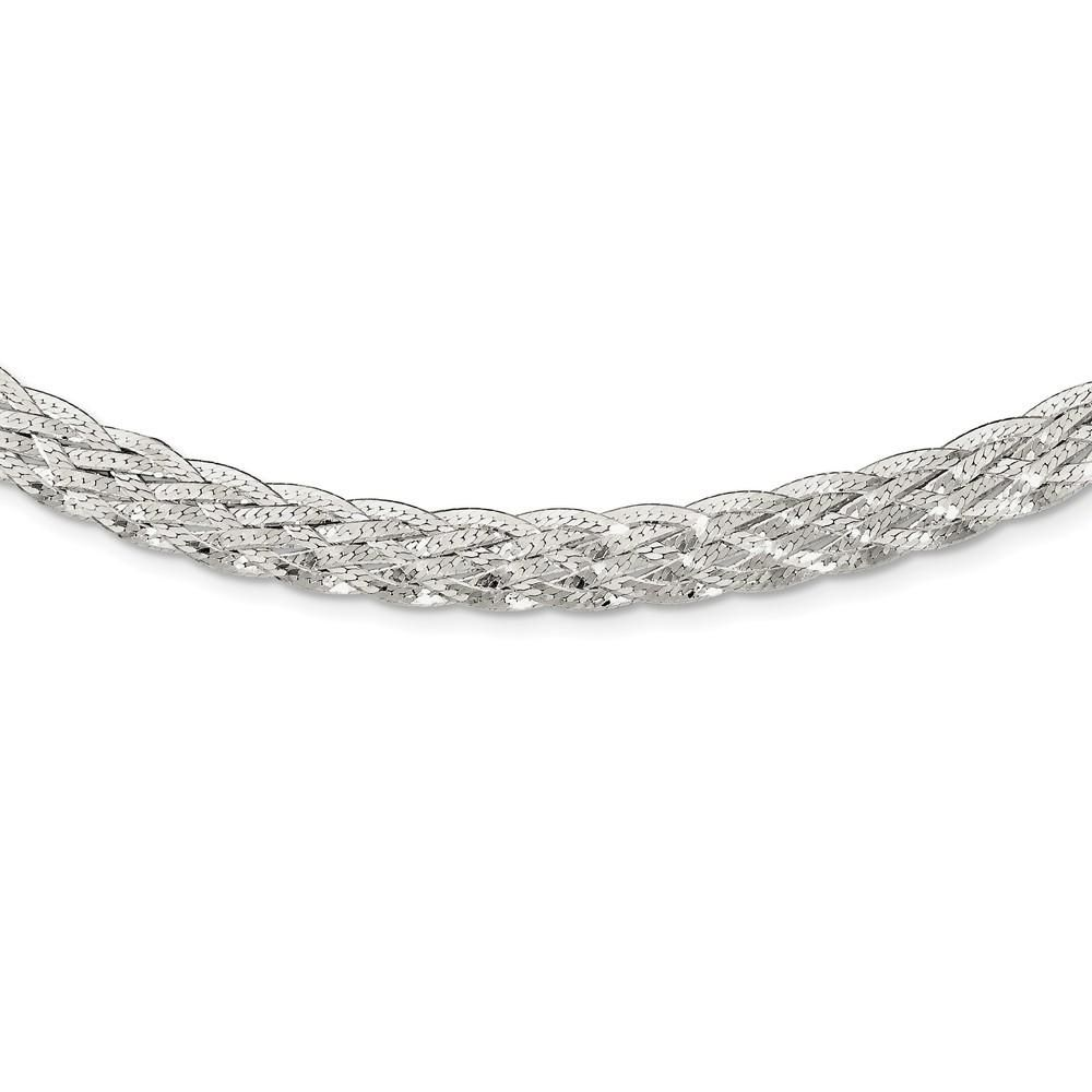 Sterling Silver-6.75mm Wire Cable Chain