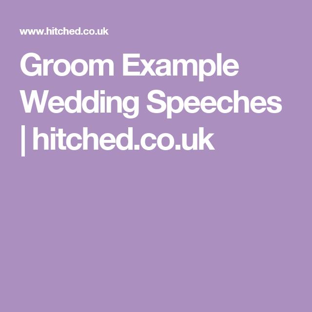 Groom Example Wedding Speeches