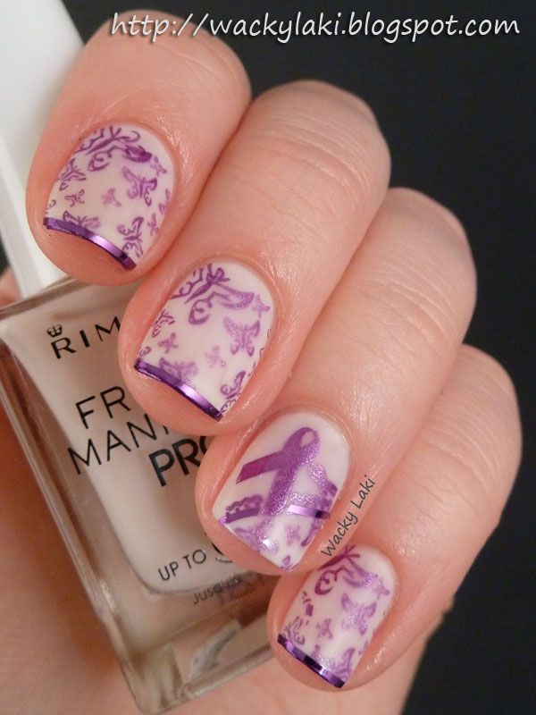 Wacky Laki Epilepsy Awareness Epilepsy Awareness Nails Nail Art Designs