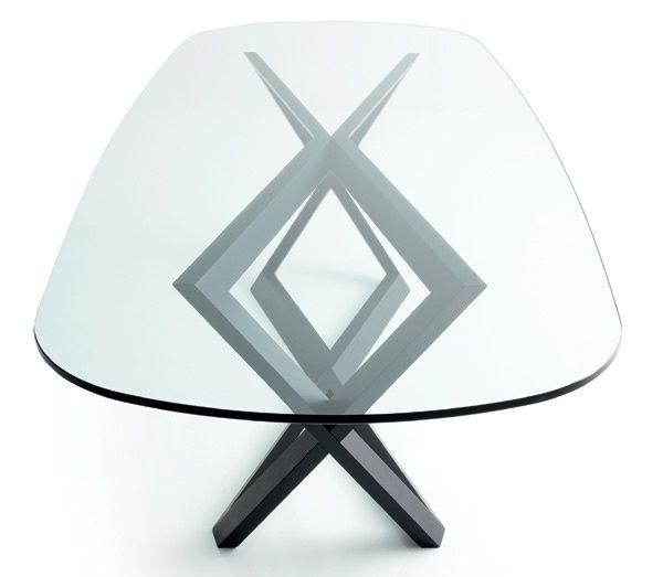 Tavolo ovale con piano in vetro Bridget. | SunRoom | Pinterest ...
