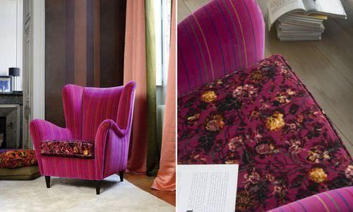 Upholstery fabric / floral pattern / velvet FRENCH RIVIERA Elitis