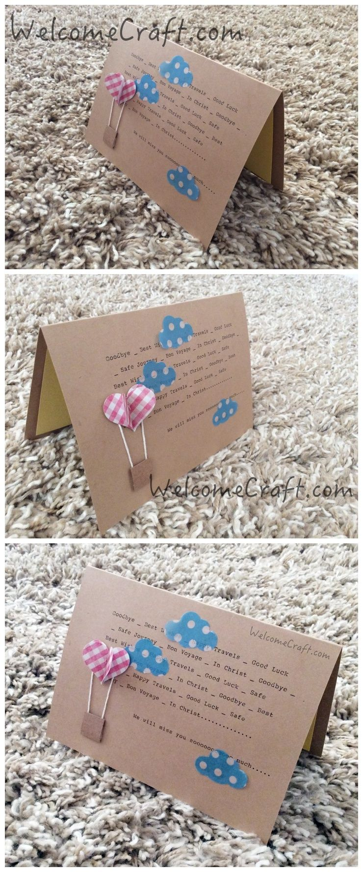 How To Make Farewell Card Diy Step By Step Tutorial Instruction