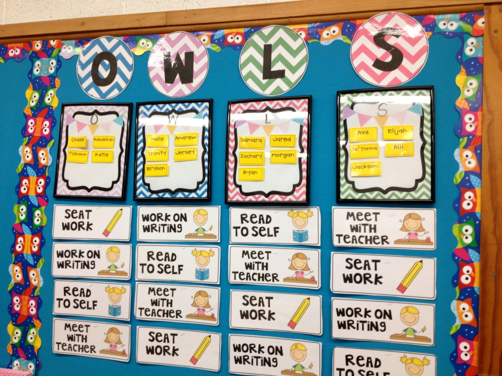 Classroom Rotation Ideas : Guided reading daily classroom management board